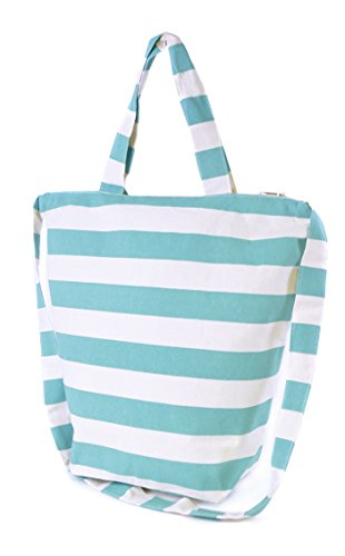 Bags Various Colours Collection Design Ladies Blue Canvas Striped Summer Beach Aqua Styles amp; 2016 FxtXqZ