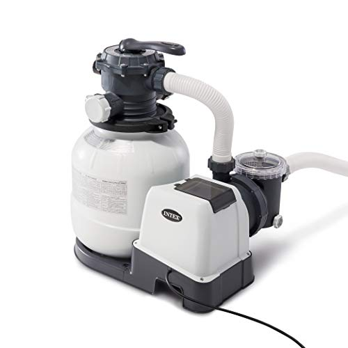 Intex Krystal Clear Sand Filter Pump for Above Ground Pools, 12-inch, 110-120V with GFCI (Best Above Ground Pool Filter)