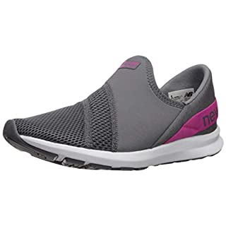 New Balance Women's FuelCore Nergize Slip-On V1 Sneaker, Lead/Carnival, 5 M US