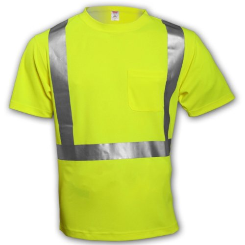 - Tingley Rubber S75022 Class 2 T-Shirt with Pocket, 4X-Large, Lime Green