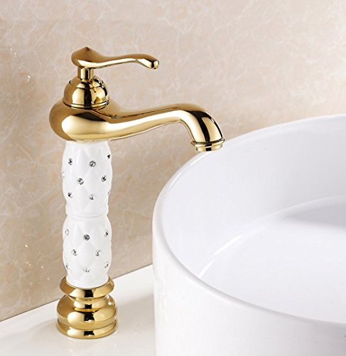 Almi hochwertige Armatur eingestellt, Bohrmaschöne, Waschbecken, Waschtisch Armatur Waschbecken, Warm- und Kaltwasser Armatur, Weiß