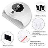 UV LED Nail Lamp, Nail Dryer 36W Gel Nail Polish UV Light With 2 Timers for two hand, Automatic Sensor for Gels Polishes
