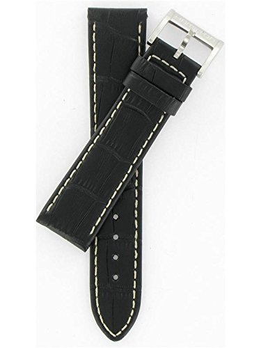 Hamilton 20/18mm Genuine Black Leather Strap