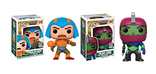 Funko POP! He-Man Masters of the Universe: Mat-At-Arms and Trap Jaw Toy Action Figure - 2 POP BUNDLE