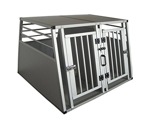 Cool Runners Pro Series Secure Aluminum Double Door Dividable Dog / Pet Travel/Car Crate