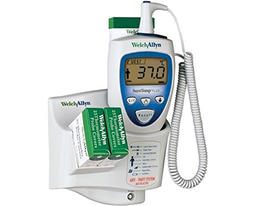 Welch Allyn SureTemp Plus 692 Electronic Thermometer with Wall Mount and 9ft Oral Probe