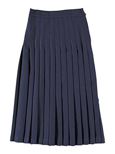 Cookie's Brand Big Girls' Long Pleated Skirt - navy, 14 by Cookie's Kids