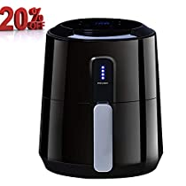 Posame Air Fryer 1400-Watt 3 Quarts Programmable Air Fryer with 8 Cook Presets,LCD Touch Screen, Family Size,Black