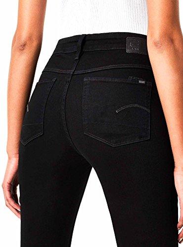 para RAW Ajustados Jeans G STAR Negro Mujer qIwB8AR