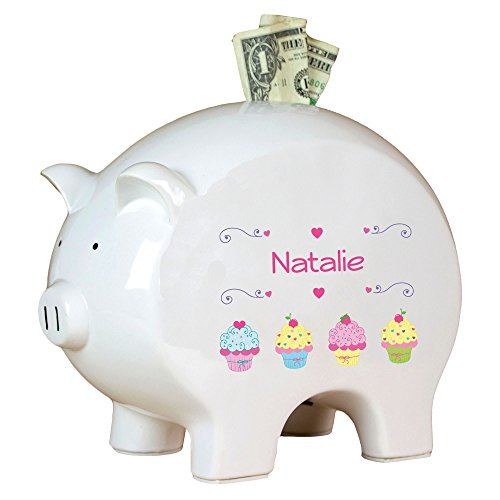 Personalized Cupcakes Piggy Bank]()