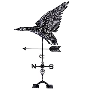 iorman Original Flying pato Weathervane hecha a mano 3d decoración adornos para techo jardín Patio