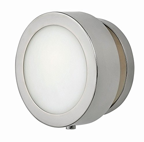 Sconce Hinkley Chrome (Hinkley 3650PN Transitional One Light Wall Sconce from Mercer collection in Chrome, Pol. Nckl.finish,)
