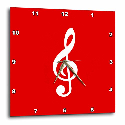 (3D Rose Red Treble Notation-G Clef Musical Note Musician Gift Wall Clock 15