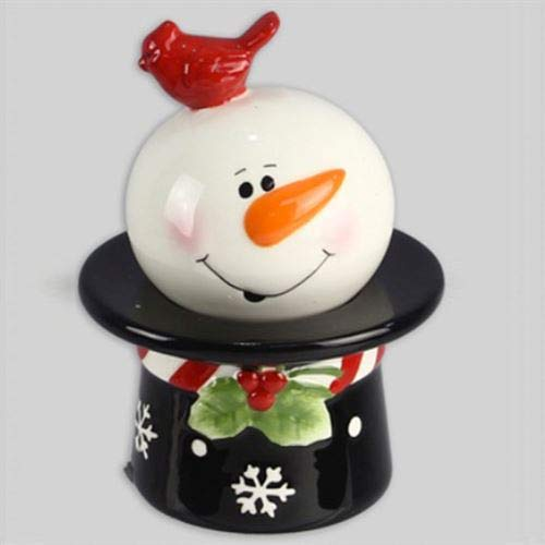 youngs Holiday Snowman Cookie Jar Multi Cool