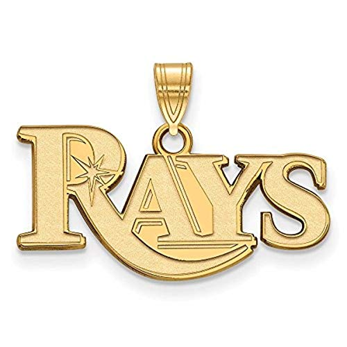 Roy Rose Jewelry 14K Yellow Gold MLB LogoArt Tampa Bay Rays Small ()