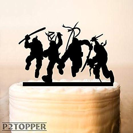 Decoración para tartas Ninja, diseño de tortugas Ninja ...