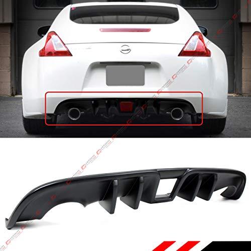 (Fits for 2009-2019 Nissan 370Z Z34 JDM L Style Shark Fin Rear Bumper Diffuser Valance)