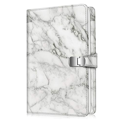 Fintie Wallet Photo Album for Fujifilm Instax Wide 300, Polaroid OneStep 2-64 Pockets (Snap Fastener) Album, Compatible with Polaroid POP, Originals 600 Camera 3.5x4.5 Inch Film (Marble) from Fintie