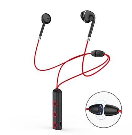 DreamanTech - Auriculares Inalámbricos Auriculares Bluetooth Banda para el Cuello Magnética Auriculares Clásicos Auriculares Estéreo Kit