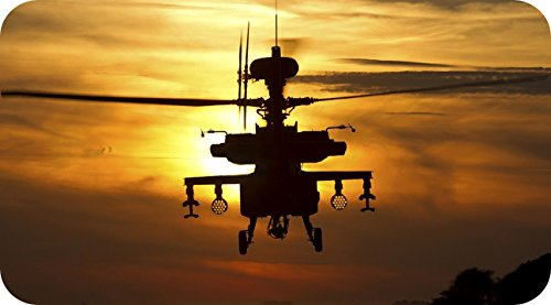 Apache Military Combat Helicopter full color window decal - Apache Helicopter Decal