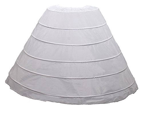 6 Hoop de Cerceau pour de Marie TUKA Robes TKB0001 Crinoline Robes Jupon Soire Blanc 6 Design Jupe xn0HOCw7