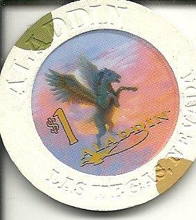 $1 aladdin horse limited obsolete las vegas casino chip Closed Las Vegas Casino