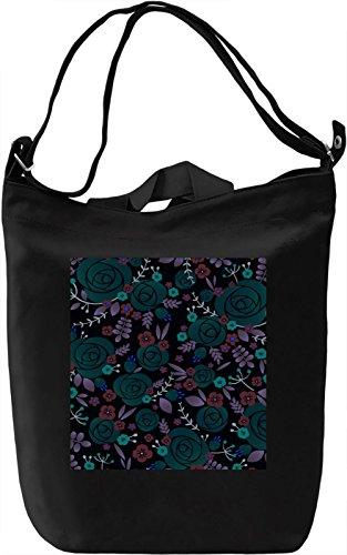 Abstract Print Borsa Giornaliera Canvas Canvas Day Bag| 100% Premium Cotton Canvas| DTG Printing|