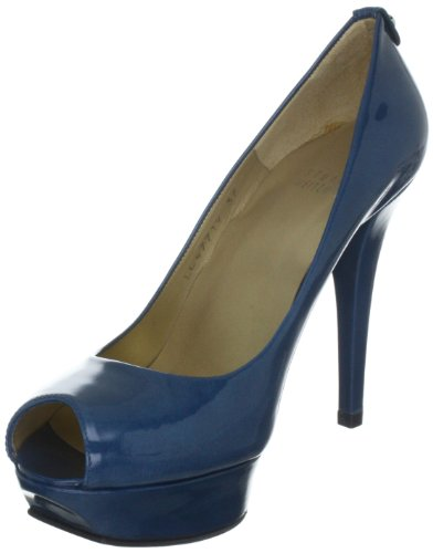 Stuart Weitzman Lille - Zapatos de tacón de cuero mujer azul - Blau (Jeans)