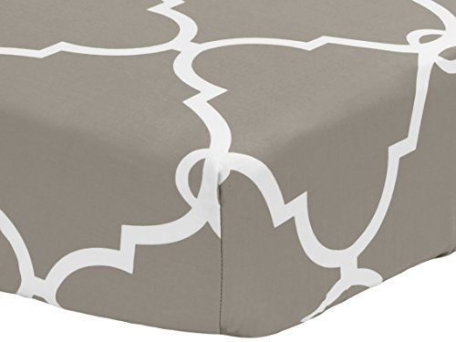 Pinzon 300 Thread Count Percale Fitted Crib Sheet, Lattice Platinum