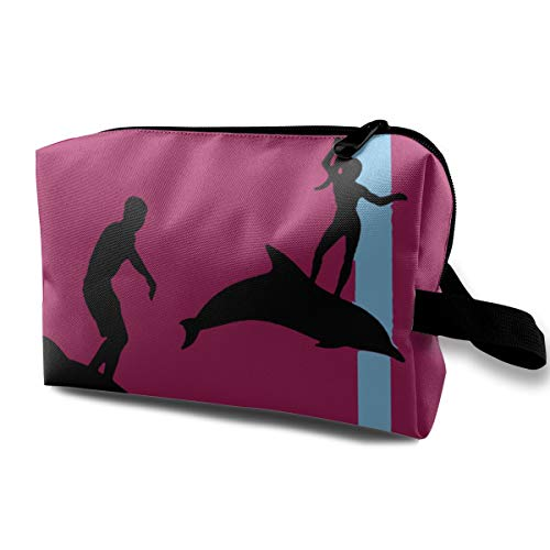 Cute Dust-proof Waterproof Travel Cosmetic Bag I Swim Therefore IM Swimming Pool -
