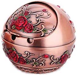 灰皿 , ヨーロッパのレトロ灰皿スタイリッシュなパーソナリティクリエイティブ灰皿家庭用灰皿(サイズ:8.5 * 7.5CM) (色 : Brass, サイズ : 8.50*7.50CM)
