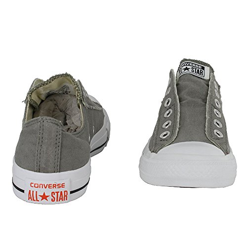 Converse Unisex Chuck Taylor All Star Slip Grey/Orange Basketball Shoe 10 Men US / 12 Women US