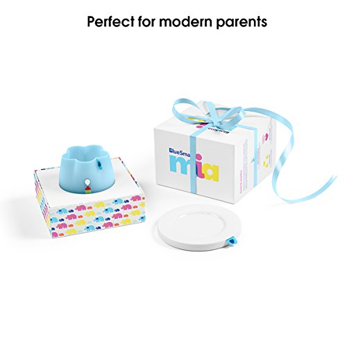 BlueSmart mia (Blue) Smart Baby Feeding Monitor - WiFi Edition. Track and Analyze Baby's Feeding Data in Real-Time. Records Feeding Temperature, Amount, Angle, Duration, and Expiration