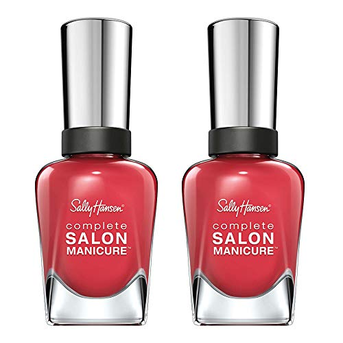 (Sally Hansen Complete Salon Manicure Scarlet Lacquer, 2 Count)