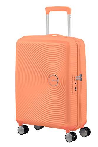 American Tourister Soundbox - Spinner S Espandibile Bagaglio a Mano, 55 cm, 35.5/41 L, Arancione (Cantaloupe) 1 spesavip