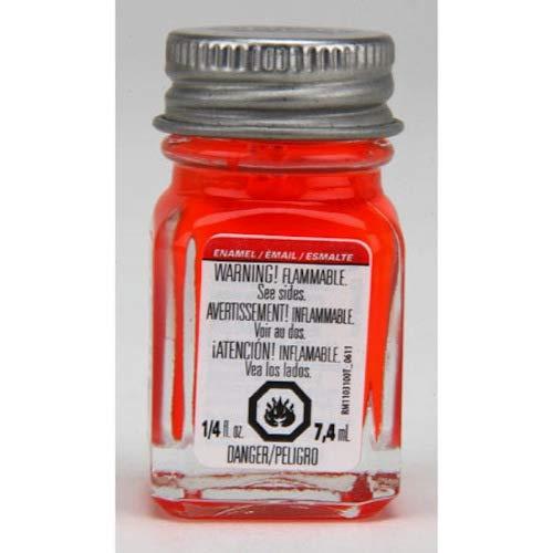 Testors Enamel Paint Open Stock .25oz-Red Fluorescent