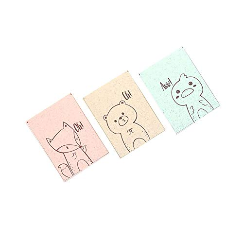 BALUZ Desktop Folding Mirror,Cartoon Animal Pattern Portable Vanity Mirror with Stand for Kids Girls 3PCS Random by BALUZ