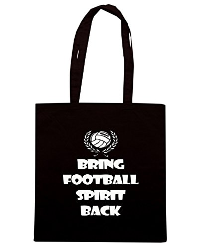 T-Shirtshock - Bolsa para la compra WC0228 Bring Football Spirit Back Negro