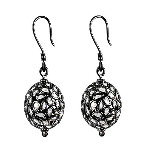 Black Rhodium Overlay Sterling Silver Earring For Women By Orchid Jewelry : Hypoallergenic Dangle Earrings For Sensitive Ears, Nickel Free Wedding Earrings | (8.15 Ctw)