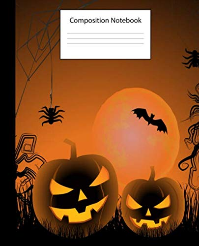 Halloween Themed Writing Paper (Composition Notebook: Halloween Themed Notebook|Perfect for Party Favors, School Notes, Gifts, Diary, Creative)