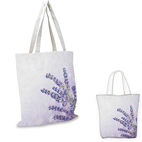 Organic Spa Tote (Lavender thin shopping bag Little Posy of Medicinal Herb Fresh Plant of Purple Flower Spa Aromatheraphy Organic canvas tote bag Lavander. 12