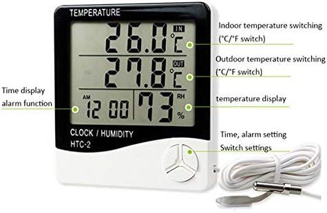 BWYFGRT 1 Stücke Elektronische Digitale Thermometer Hygrometer -1-2 Indoor Outdoor C/F Thermometer Hygrometer Wecker. HTC 2