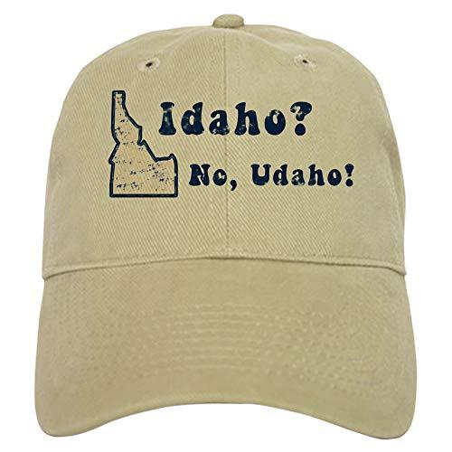 - CafePress Vintage Idaho Baseball Cap with Adjustable Closure, Unique Printed Baseball Hat Khaki