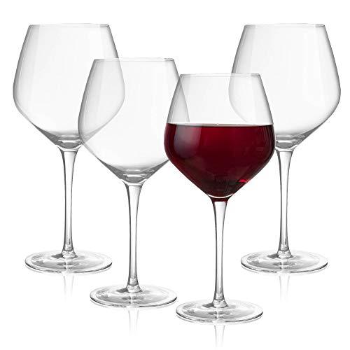 Long Stem 24 Oz. Oversized Wine Glasses, Set of 4 – Crystal Glassware for Red and White Wine – Dishwasher-Safe, Handmade…
