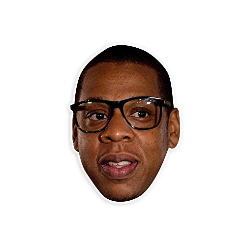 Nerdy Jay-Z Mask - Perfect for Halloween, Masquerade, Parties, Events, Festivals, Concerts - Jumbo Size Waterproof - Halloween Costume Z Jay