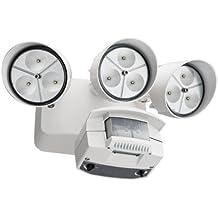 Lithonia Lighting OFLR 9LN 120 MO WH M2  3-Light Outdoor Integrated LED Motion Sensor Security Flood Light, Round, White