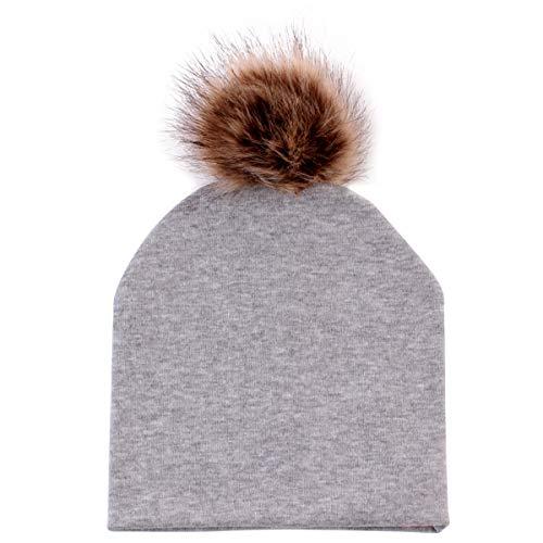 69486a61666 Infant Newborn Baby Hats Cute Soft Warm Cotton Beanie Hat Toddler Baby Kids  Ski Cap Pom