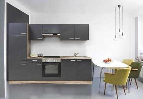 respekta Küche Küchenzeile Einbauküche Küchenblock 270 cm buche ...