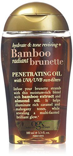 OGX Hydrate & Tone Reviving + Bamboo Radiant Brunette Penetrating Oil, 3.3 Ounce