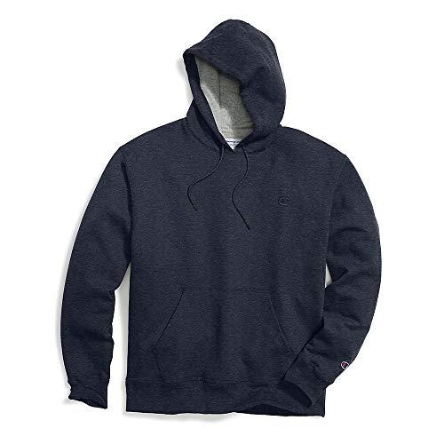 Champion Men's Powerblend Pullover Hoodie, Navy Heather, -